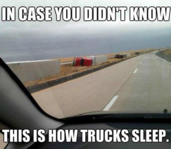 Place where trucks are sleeping (Photo)