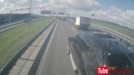 Raging BMW driver decided to test lorry brakes (Video)