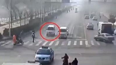 Invisible force lifting cars in the middle of road (Video)