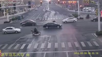 Incredibly apathetic people leave accident victim laying on the road (Video)